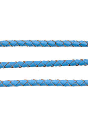 www.snowfall-beads.com - Leather cord woven 100cm, 4mm thick