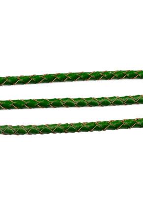 www.snowfall-beads.nl - Leren koord gevlochten 100cm, 4mm dik