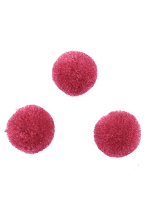 www.snowfall-beads.com - Textile pompoms 20mm