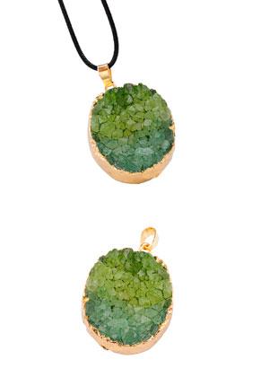 www.snowfall-beads.nl - Natuursteen hanger ovaal 40-50x25-35mm