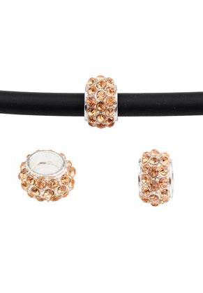 www.snowfall-beads.nl - Groot-gat-style strass kralen rondel 11x7mm