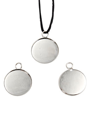 www.snowfall-beads.com - Metal pendants round 41x36mm with setting for 35mm flat back
