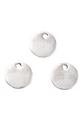 www.snowfall-beads.nl - Metalen naamlabel hangers/bedels rond 10,5mm