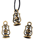 www.snowfall-beads.com - Metal pendants/charms oil lamp 20x10mm - D22719