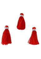 www.snowfall-beads.com - Textile mini tassels 22x10mm - D22759