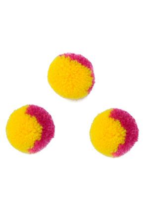www.snowfall-beads.com - Textile pompoms 18mm