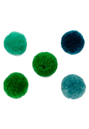 www.snowfall-beads.com - Mix textile pompoms 20mm