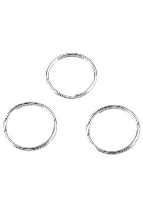 www.snowfall-beads.com - Metal key fob rings 25mm