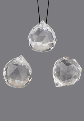 www.snowfall-beads.com - Glass pendants drop faceted 24x20mm