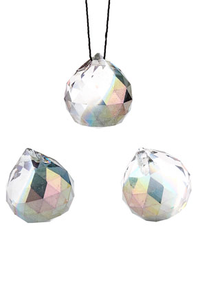 www.snowfall-beads.com - Glass pendants drop faceted 24x20mm