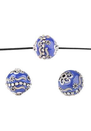 www.snowfall-beads.nl - Metalen Kashmiri kralen met polymeerklei 20mm