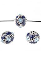 www.snowfall-perles.be - Perles Kashmiri en métal avec argile polymère 20mm - D22902