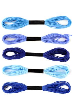 www.snowfall-beads.nl - Mix stoffen garen 10 x 8 meter, 1mm dik