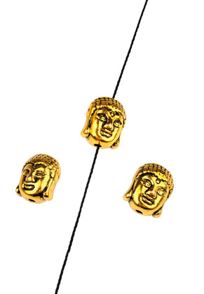 www.snowfall-beads.com - Metal beads Buddha 11x9mm