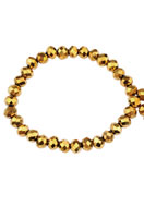 www.snowfall-beads.fr - Perles en verre rondelle avec facettes 4x3mm (150 pcs.) - D22986