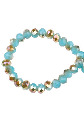www.snowfall-beads.co.uk - Glass crystal rondelle beads faceted 6x5mm (90 pcs.)
