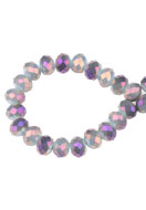 www.snowfall-beads.de - Glasperlen Rondelle facette geschliffen 8x6mm (± 60 St.) - D23022