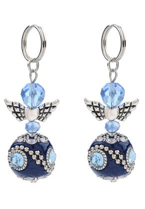 www.snowfall-beads.nl - Engel-hanger met Kashmiri kraal 63x20mm