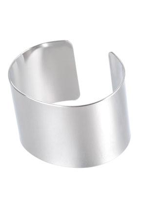 www.snowfall-beads.fr - Bracelet cuff de brass blanc 17,5cm, 3,5cm largeur