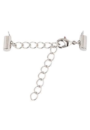 www.snowfall-beads.fr - Embouts coulissantes de rocailles en métal 10x6mm avec chaîne d'extension