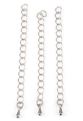 www.snowfall-beads.nl - Metalen verlengkettingen 70x4mm