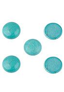 www.snowfall-beads.fr - Cabochon en pierre naturelle Imitation Turquoise circulaire 18mm - D23347