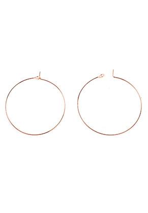 www.snowfall-beads.com - Brass hoop earrings 50x45mm