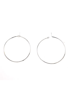 www.snowfall-beads.com - Brass hoop earrings 45x40mm