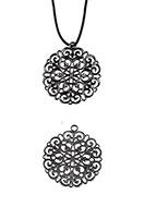 www.snowfall-beads.com - Bohemian metal pendants 50x45mm - D23394