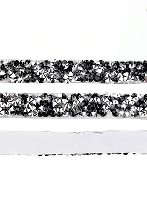 www.snowfall-beads.com - Strass cord self-adhesive, 10mm wide