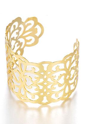 www.snowfall-beads.fr - Bracelet manchette en métal 17,5cm
