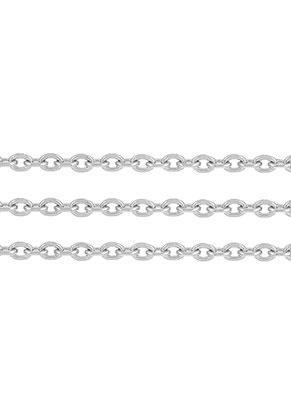 www.snowfall-beads.de - Edelstahl Kette mit 3x2mm Glieder, flach