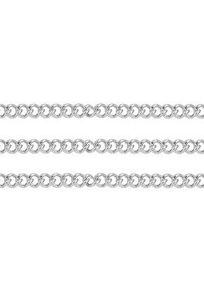 www.snowfall-beads.nl - Roestvrijstalen ketting met 2x1,5mm schakels