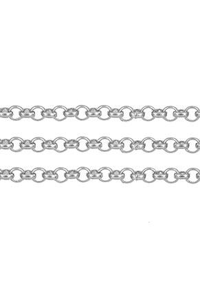www.snowfall-beads.be - Roestvrijstalen ketting met 2,5mm schakels