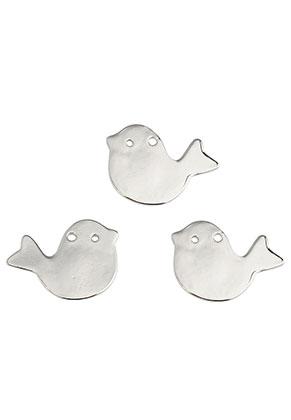 www.snowfall-beads.fr - Pendentifs/plaques à graver en métal oiseau 29x22mm