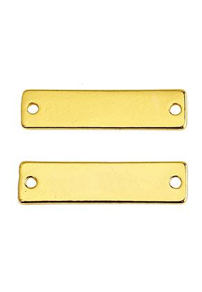 www.snowfall-beads.fr - Entre-deux/plaque à graver en métal rectangle 31x8mm