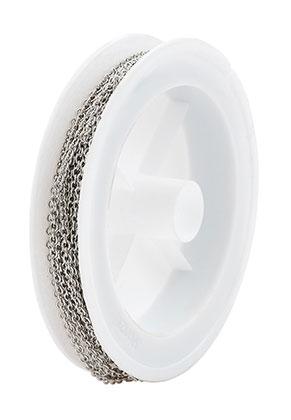 www.snowfall-beads.nl - Metalen ketting met 2,5x2mm schakels (5 meter per rol)
