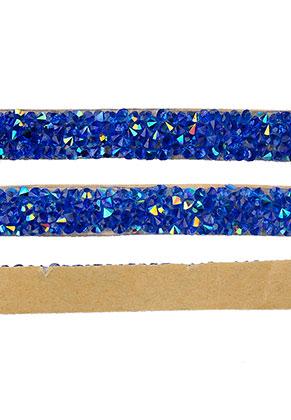 www.snowfall-beads.com - Strass cord self-adhesive, 10mm wide