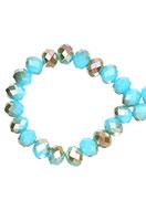 www.snowfall-beads.de - Glasperlen Rondelle facette geschliffen 8x6mm (± 60 St.) - D23923