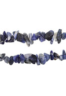 www.snowfall-beads.com - Natural stone beads Sodalite 4-14x1-8mm - D24075
