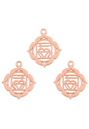 www.snowfall-beads.com - Metal Chakra pendants/charms Muladhara 23x19mm