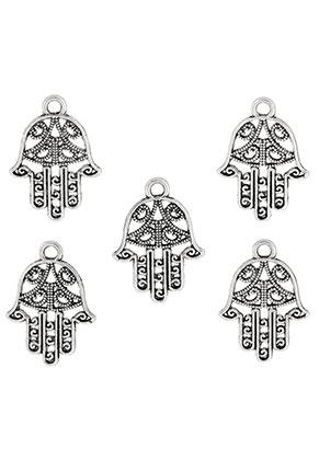www.snowfall-beads.fr - Pendentifs/breloques en métal main de Fatima 21x15mm