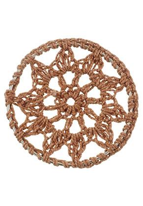 www.snowfall-beads.nl - Stoffen hanger/tussenzetsel dromenvanger 46mm