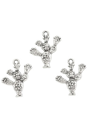 www.snowfall-beads.nl - Metalen hangers cactus 24x20mm