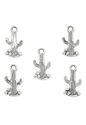www.snowfall-beads.nl - Metalen hangers/bedels cactus 19x10mm