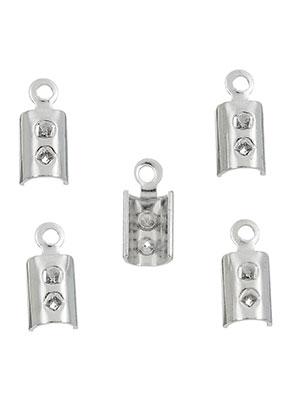 www.snowfall-beads.fr - Pinces lacet en métal pour lacets et cuir 9,5x4mm