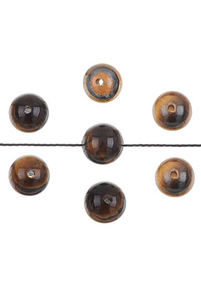www.snowfall-beads.com - Natural stone beads Tiger eye round 4mm