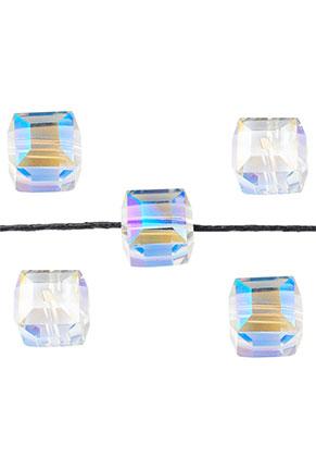 www.snowfall-beads.com - Glass beads crystal cube 12mm