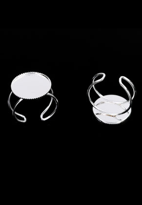www.snowfall-beads.de - Metall Ringe <= Ø 20mm mit Fassung für 18mm Klebstein