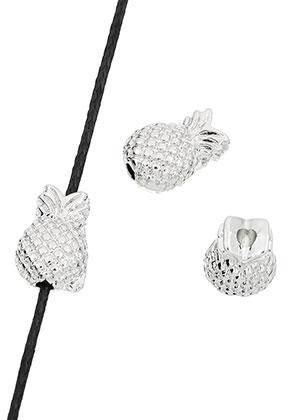 www.snowfall-beads.es - Abalorios de metal piña 13x8,5x7mm